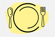 yellow graphic of a dinner service